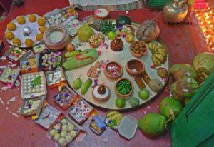 Shandhi pujo ingrediens