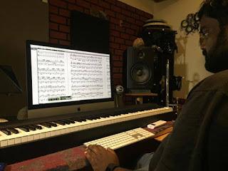 Jason composing music
