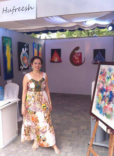 Hufresh in her exhibition
