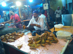Vendor Selling Onion, Beef and Chicken Samosa(Tilak Nagar)