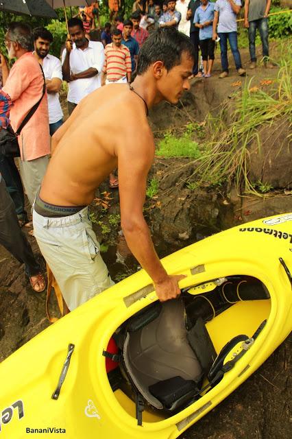A Kayaker with his Kayak