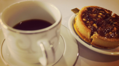Coffee with lemon tart-amazing combo