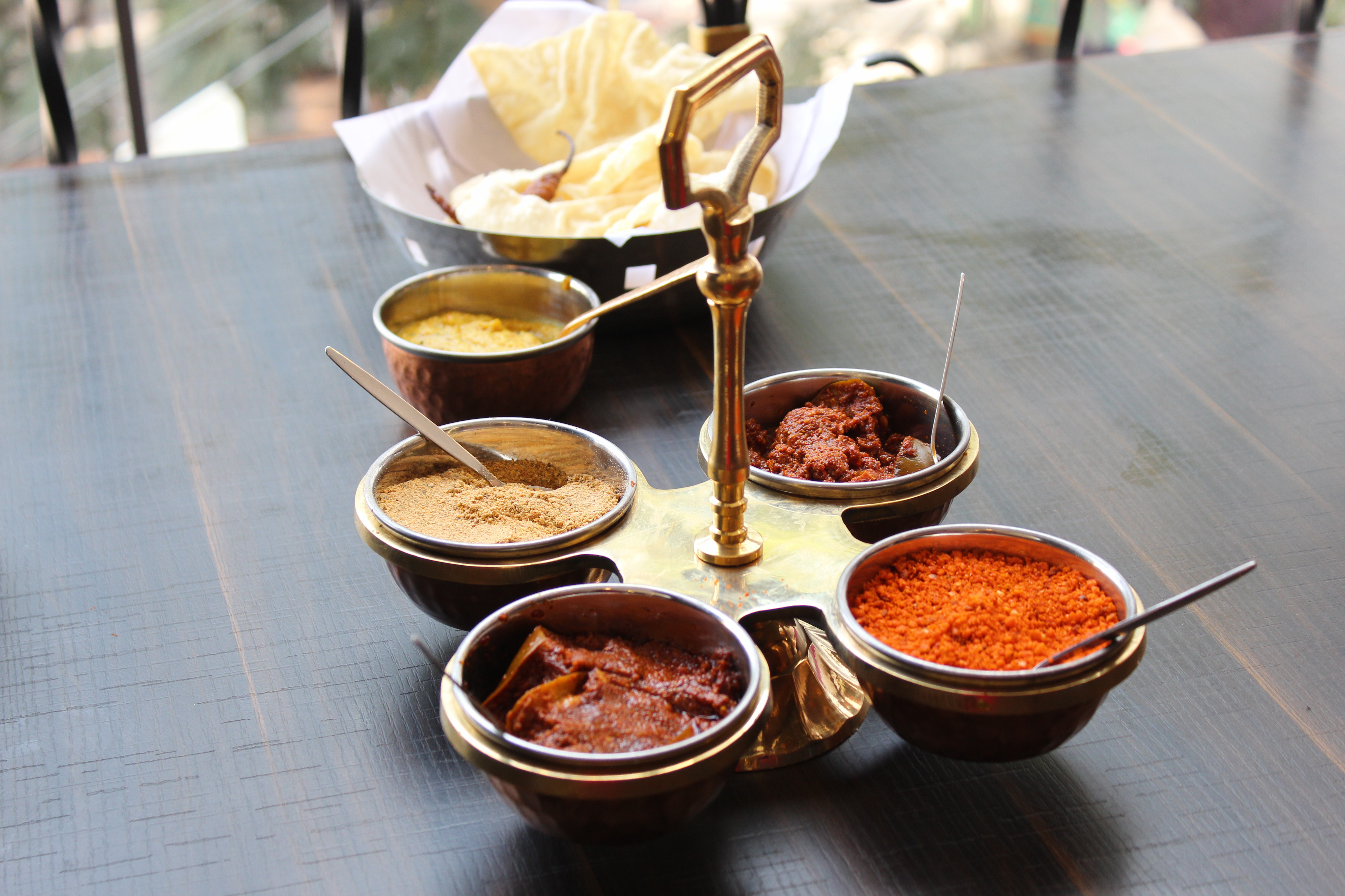 Various chutneys and pickles