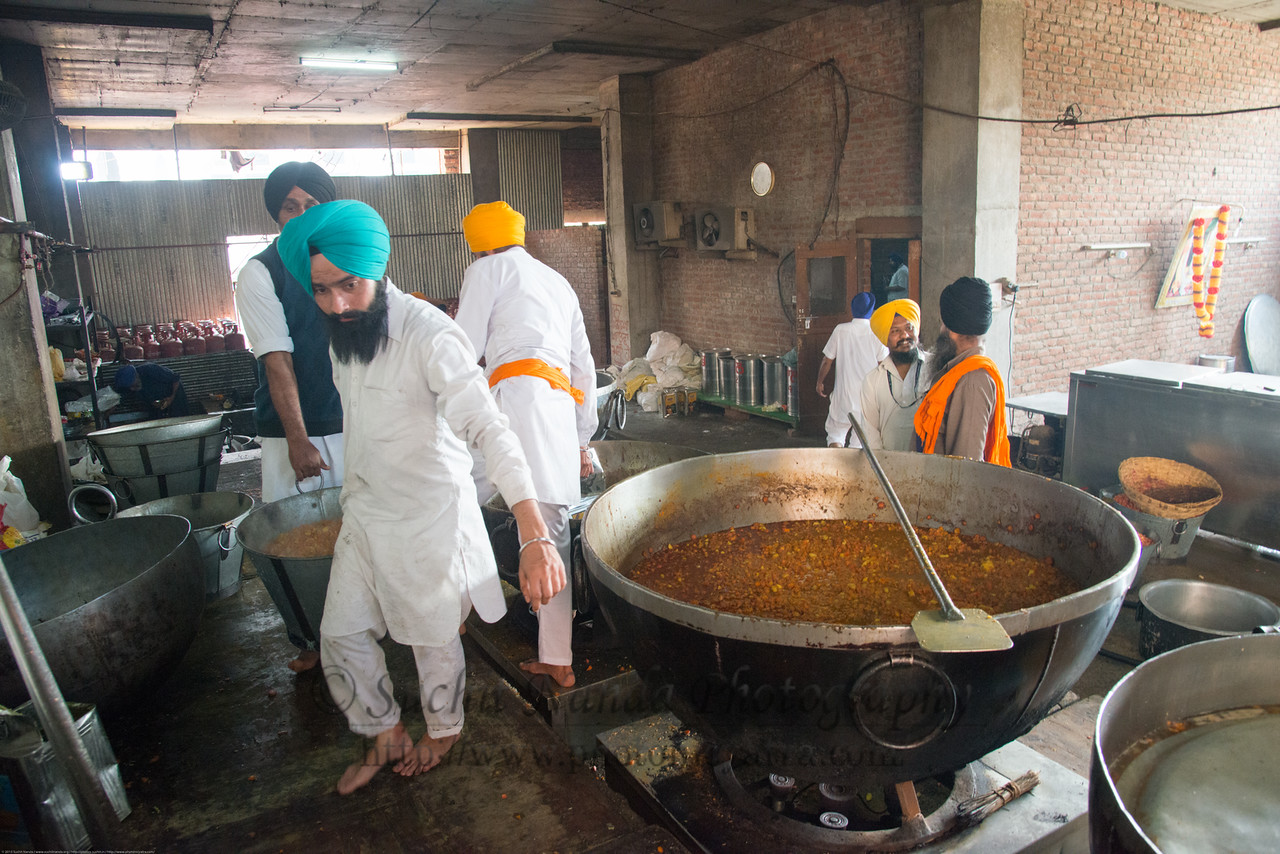 Large vessels for the free langar at the Golden Temple