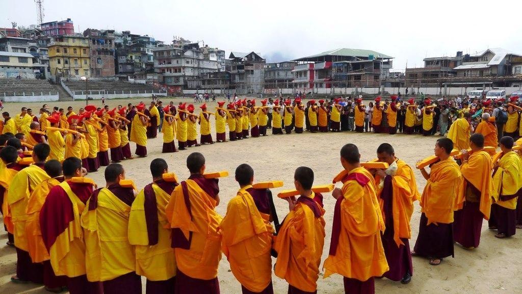 Buddhist Monks Celebrating the day