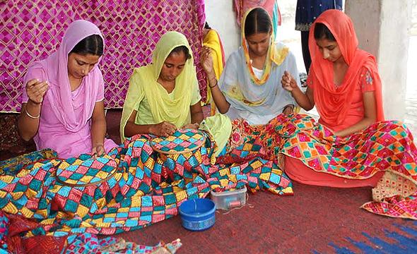 Earlier, women would gather around and create beautiful Phulkari embroidery