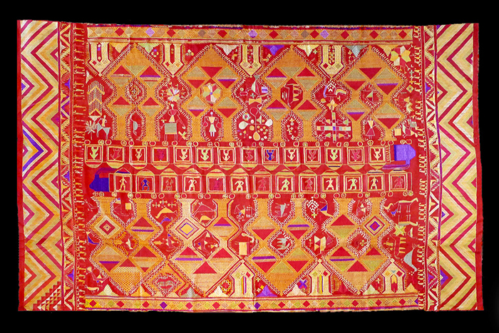 A rare example of a 19th Century Darshan Dwar pattern