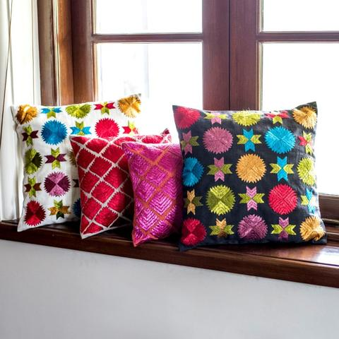 Cushions look extra bright with these designs