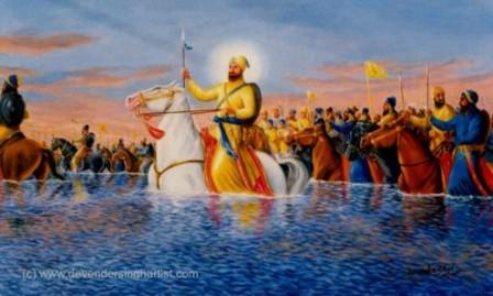 Sikh Gurus encouraged people to fight for a just cause.