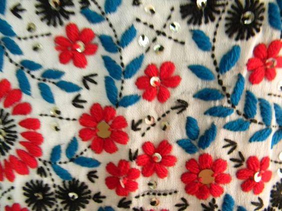A flower motif pattern