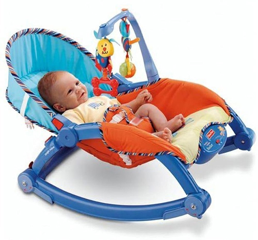 A baby rocker can double up as a feeding chair too.