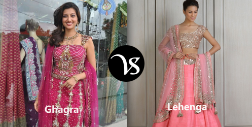The ultimate difference between Ghaghra choli and Lehenga Choli
