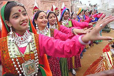 Local artists performing during 'Kunjari Malhar'