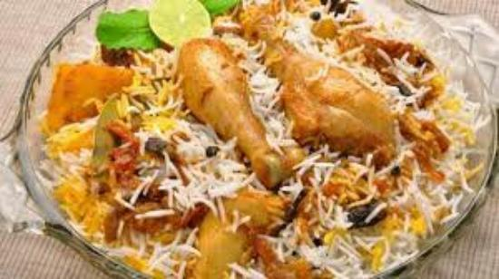 The famous Idris Ki Chicken Biryani