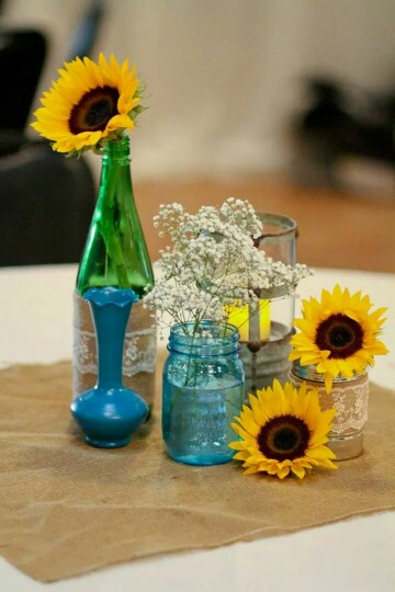 Use your beer bottles, cans and convert them into flower vases.