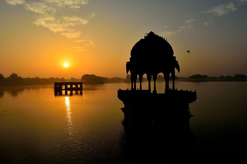Sunset At Gadisar Lake