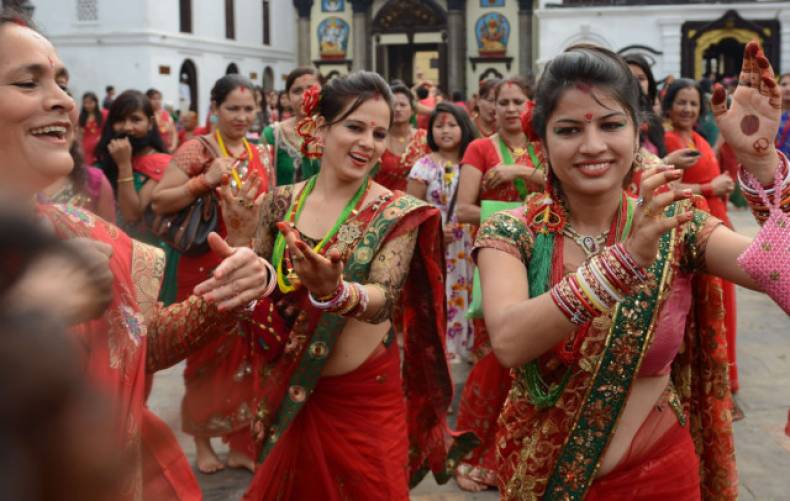 Women enjoying the festivity