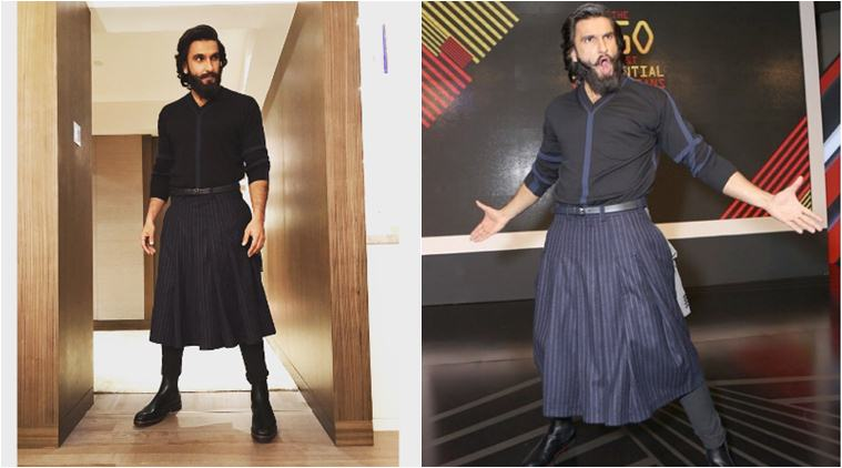 Ranveer Singh loves experimenting with his clothes