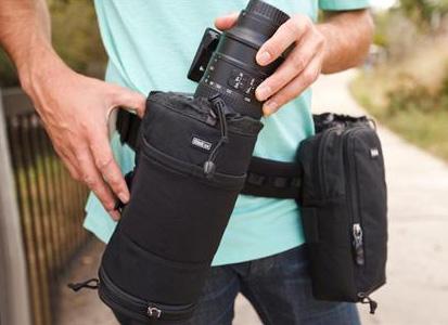 Adjust the camera around your waist.