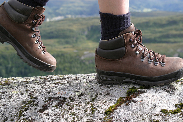 Carry your hiking shoes.
