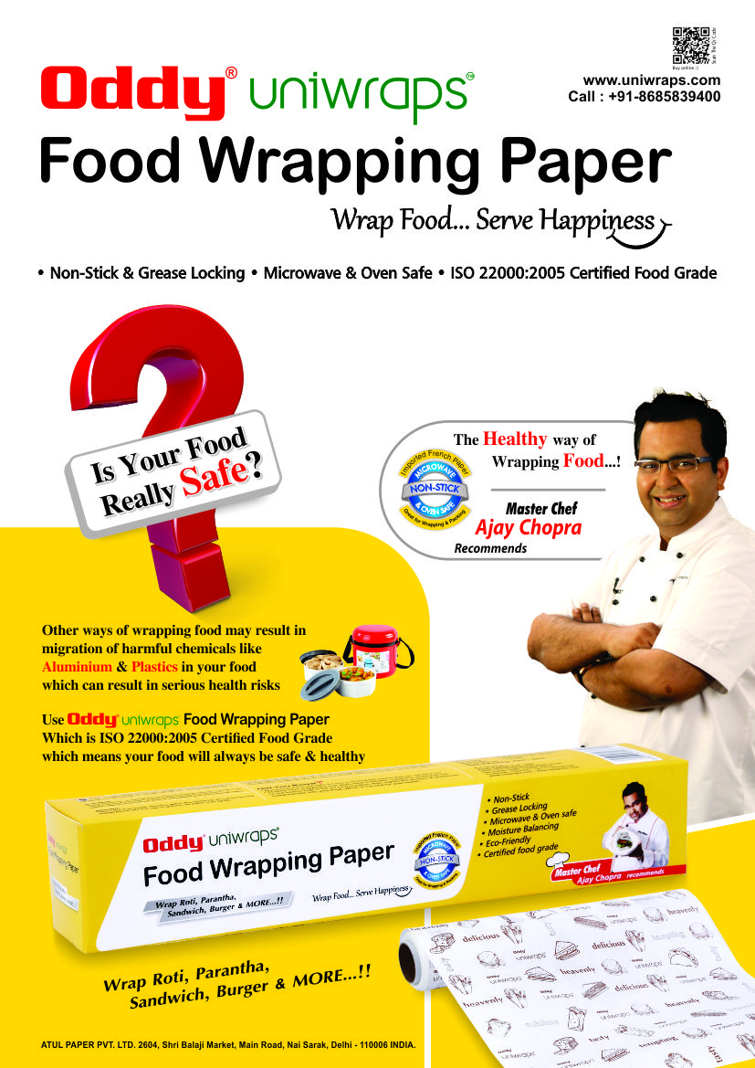 Food Wrapping Paper-Chef Ajay Chopra recommends!