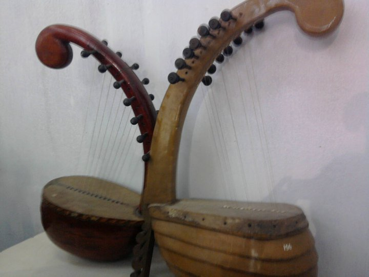 Yazh is a variation of the harp
