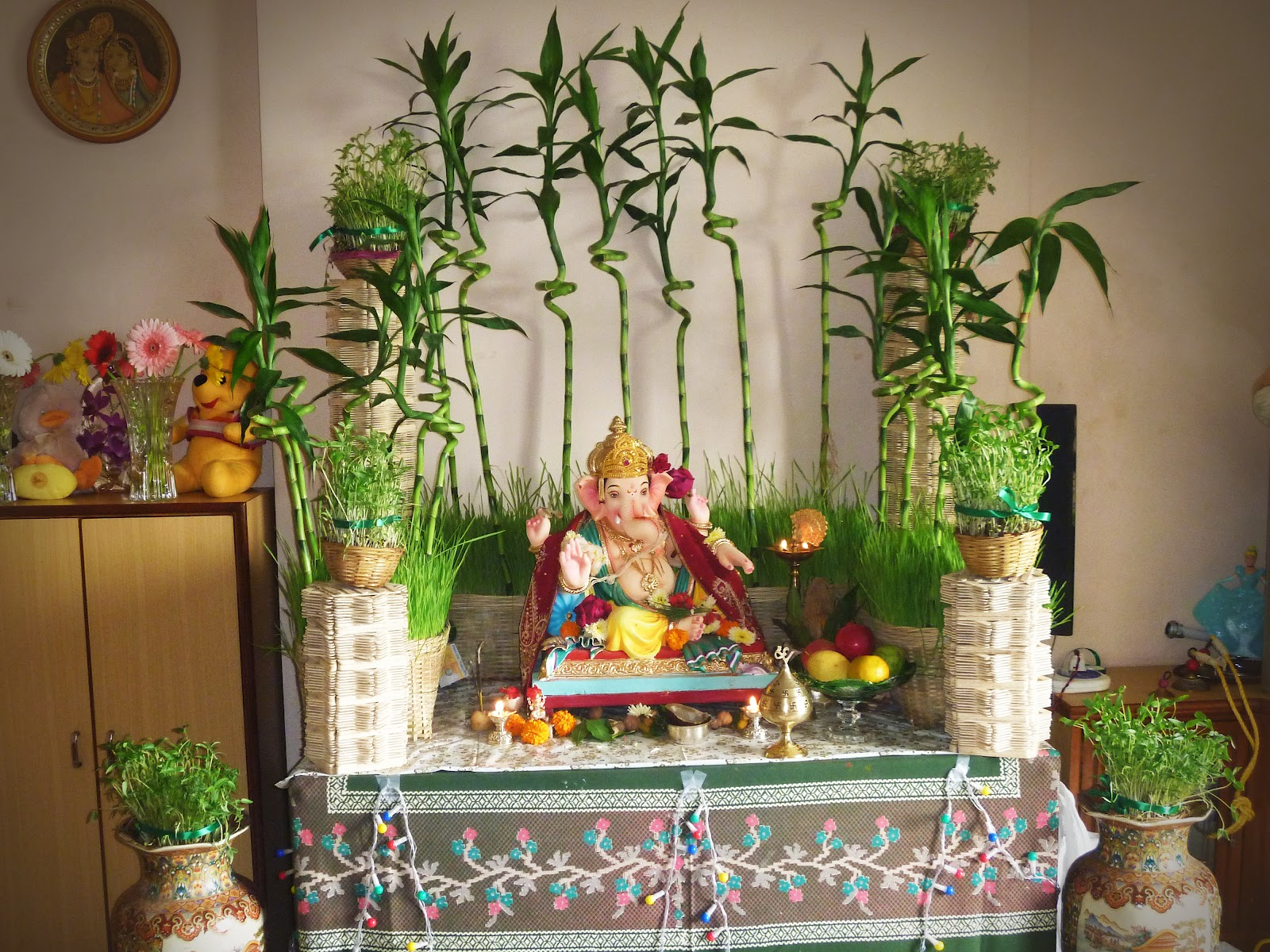 5 simple home decor ideas for ganesh chaturthi by monica for Simple house decoration