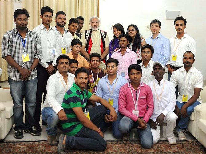 Team Saakar With Prime Minister