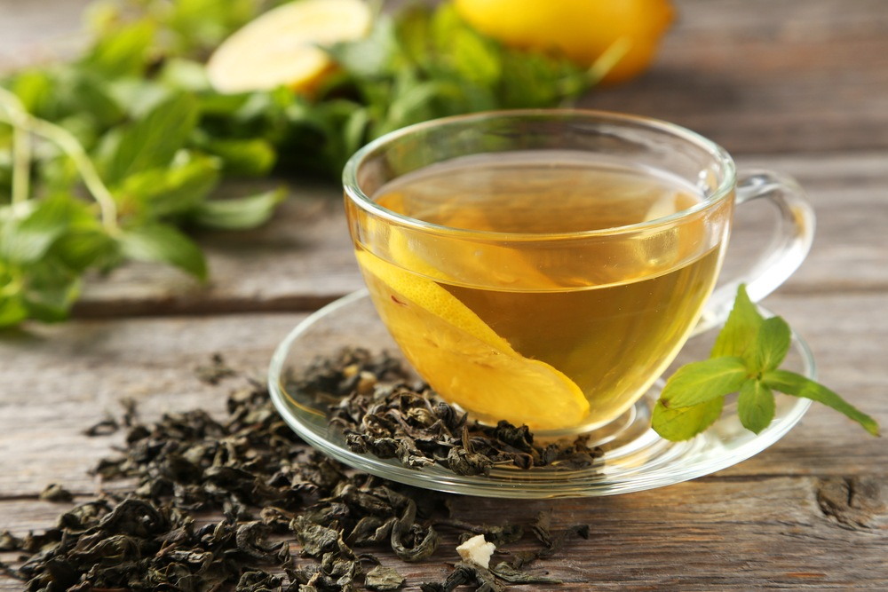 The relaxant, green tea