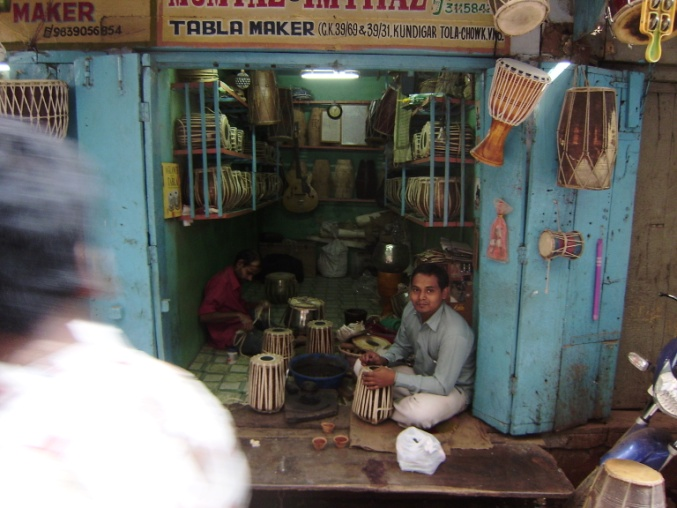The city is dotted with many shops selling traditional musical instruments