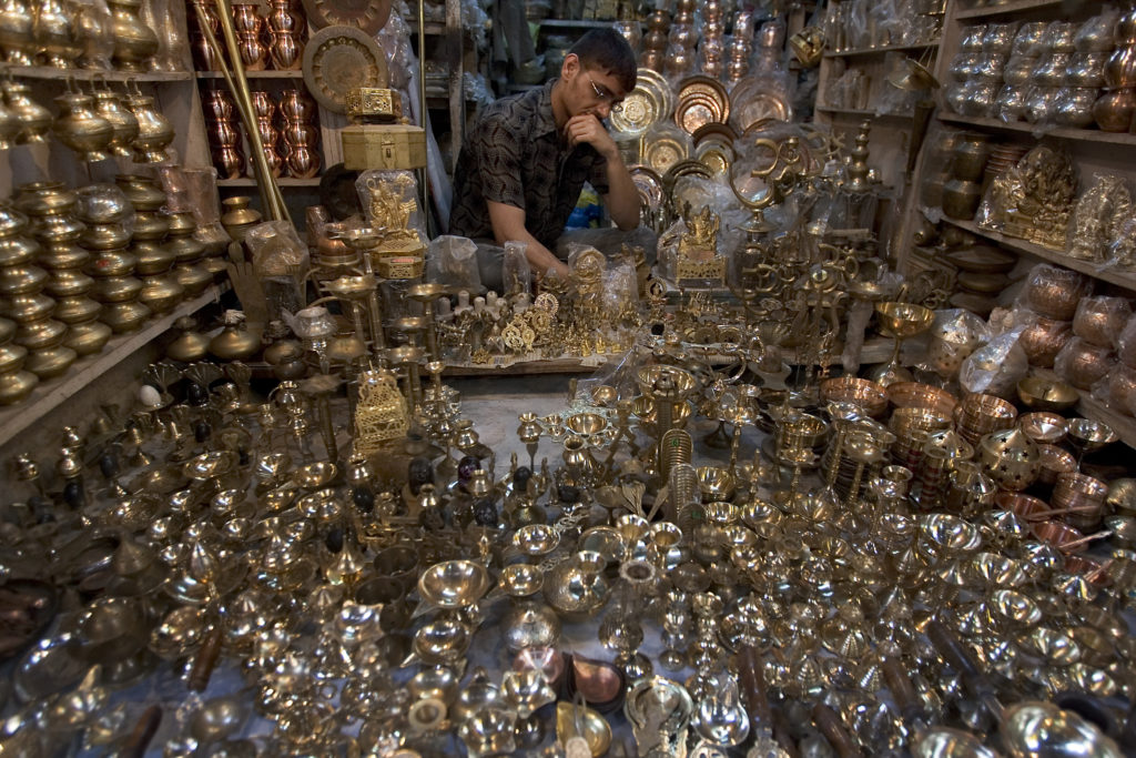 Brass items are famous in Varanasi