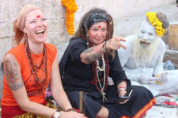Devotees of Lord Shiva with a Naga Sadhu