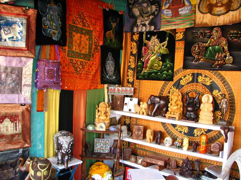 A stunning variety of handicrafts is available