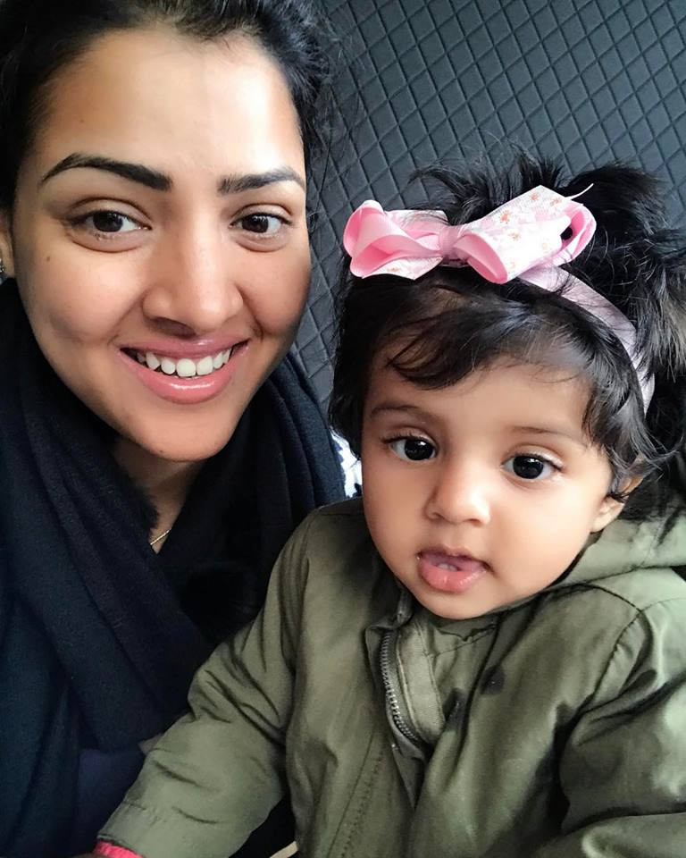 Priyanka with her daughter Gracia