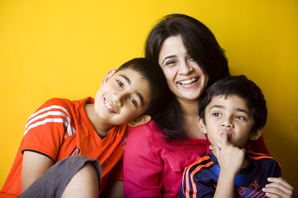 Ruchita with her sons