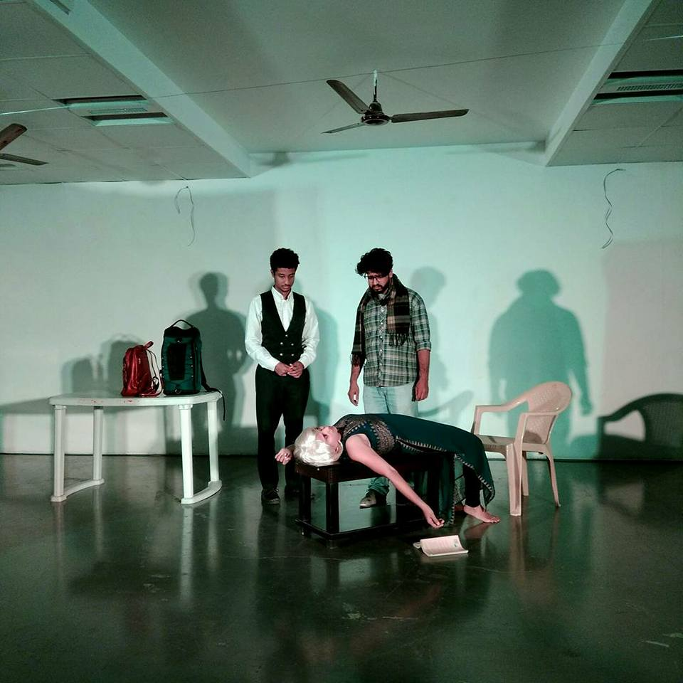 Theater Group From Hyderabad Enacts Scenes From Murder In Paharganj