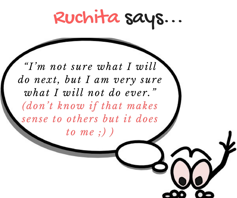 Ruchita says