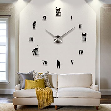 Clock themed wall