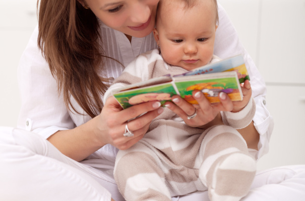 Strengthen your bond with the baby by reading aloud.