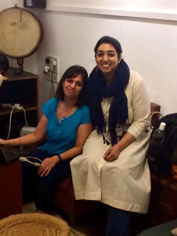 Reema Ahmad with Amita Malhotra, the founders of Candidly
