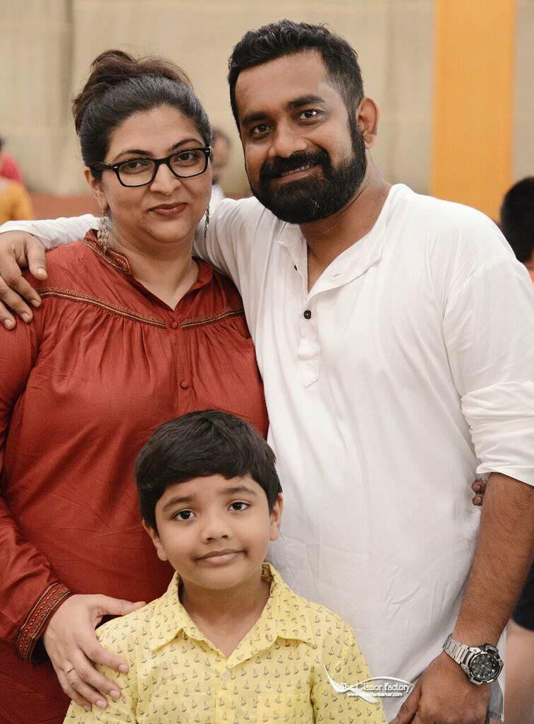 Anindya with wife, Madhushree and son, Arko