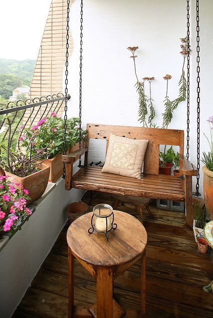 Your small balcony's decor is reflective of your taste and preference.