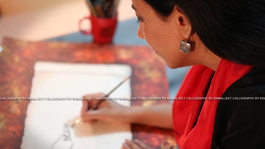 Kamaljeet Kaur is famous for Gurmukhi calligraphy. BananiVista