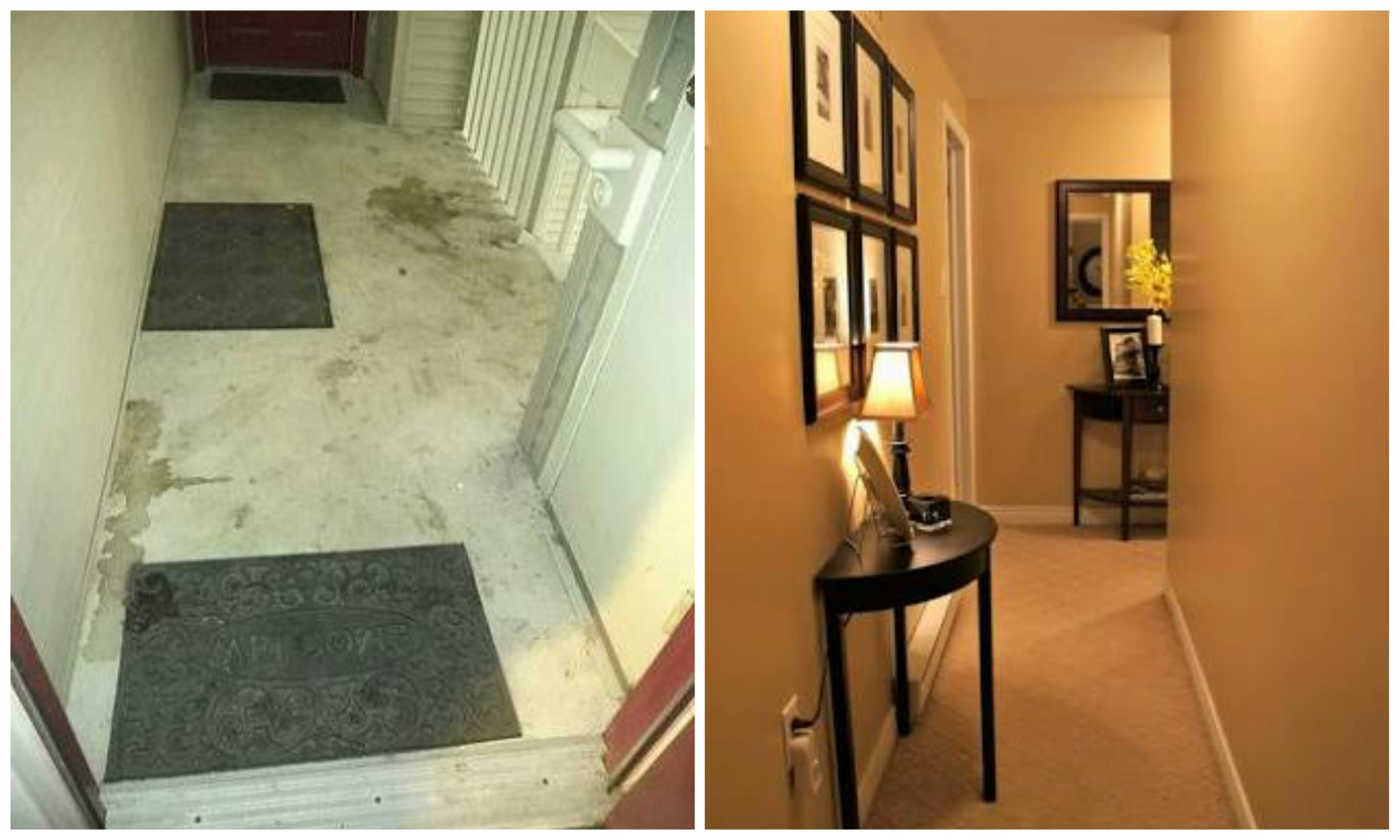 Ignored hallway vs. Decorated hallway
