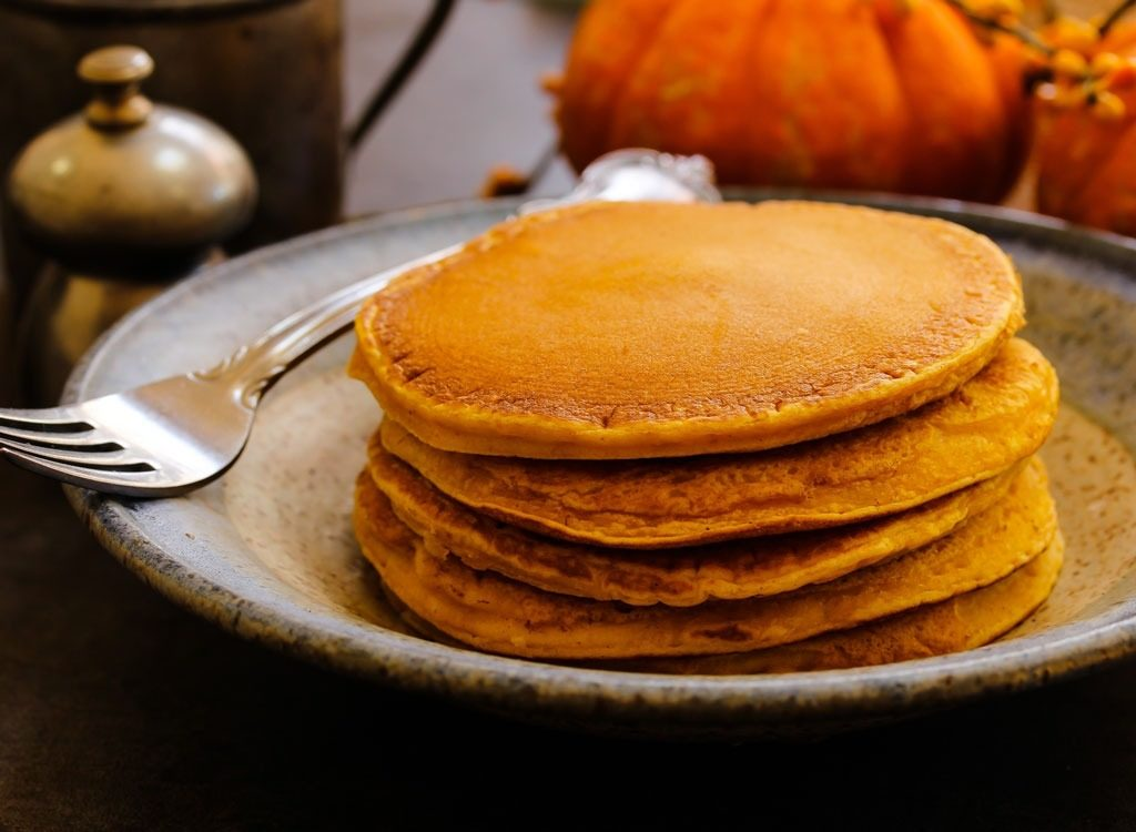 Try out the pumpkin pancakes