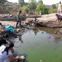 A dirty pond inside Turahalli was cleaned and filled with fresh water