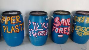 The group has placed bins at various locations inside Turahalli