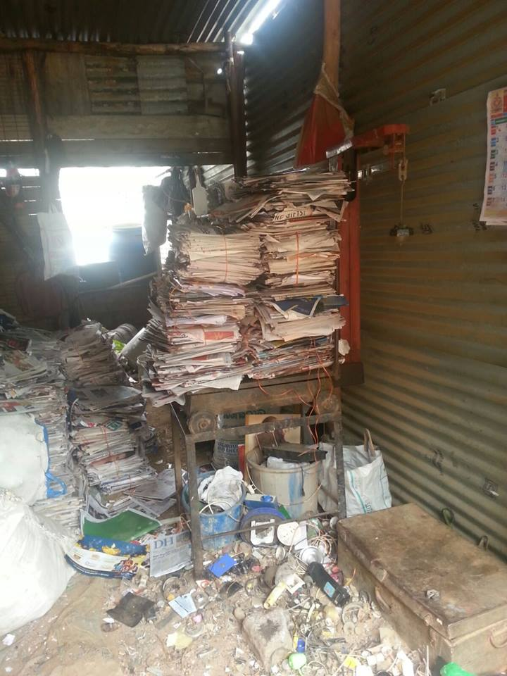 The group collects and sells old newspapers to fund their activities