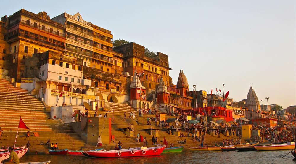 The developing city of Varanasi