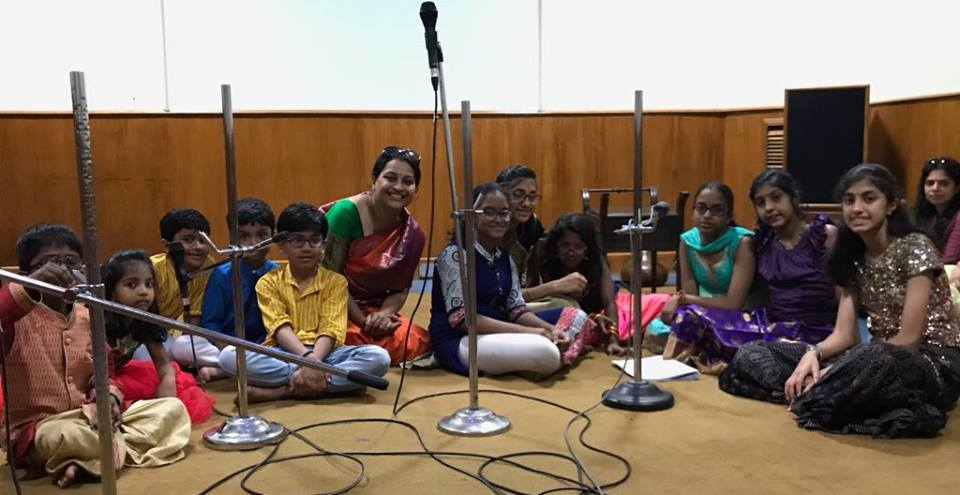 Divyaa Doraiswamy is a proud teacher whose students recorded shlokas at All India Radio, Bengaluru